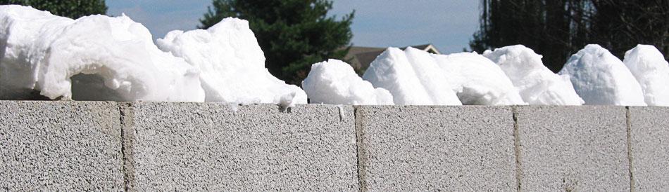 Injection foam foam in place foam insulation for Foam block wall construction